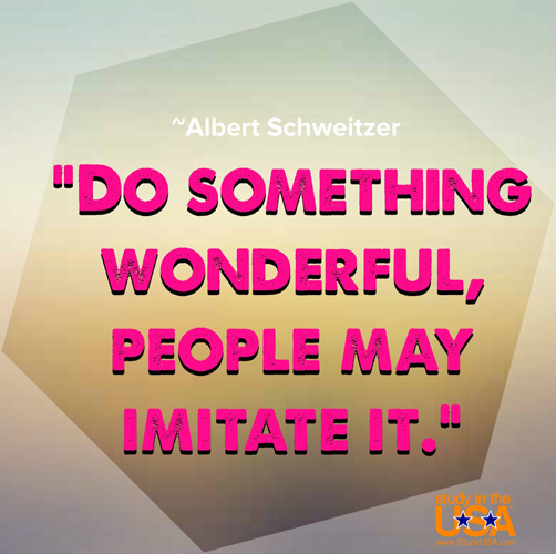blog Image Do something wonderful, people may imitate it.